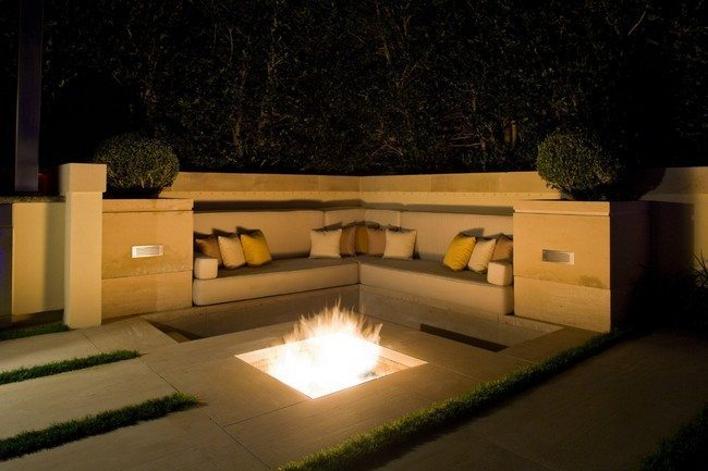 Inspiration for backyard fire pit designs decor around for Modern fire pit ideas