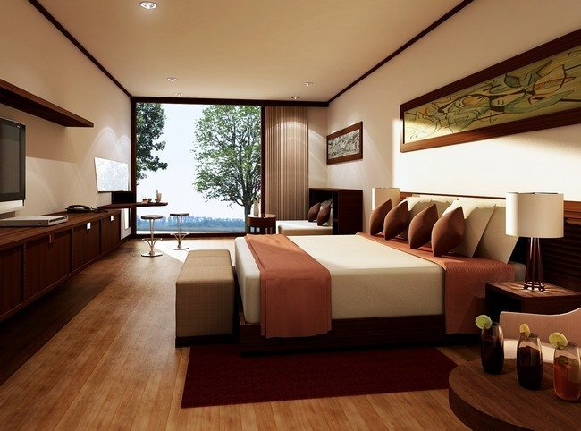 Large, spacious bedroom