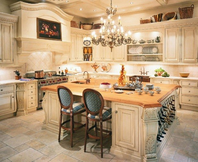 French Country Kitchen Ceiling Color