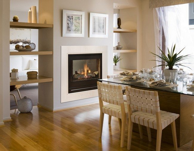 american style fireplace