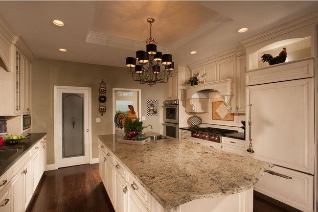 French country kitchen d cor decor around the world for French country kitchen white cabinets