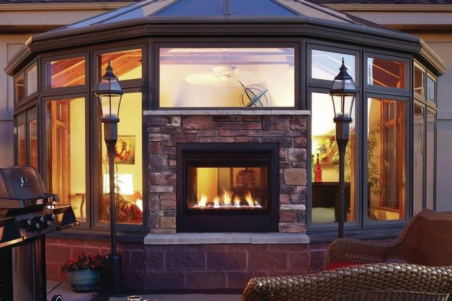 Transform Your Spacious Space With A Double Sided Fireplace Decor Around The World