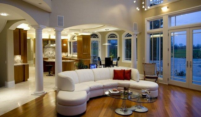 Neat white couch