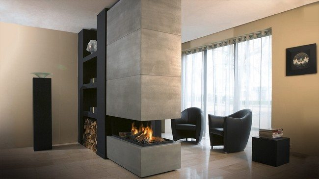 double-sided -fireplace-kjh