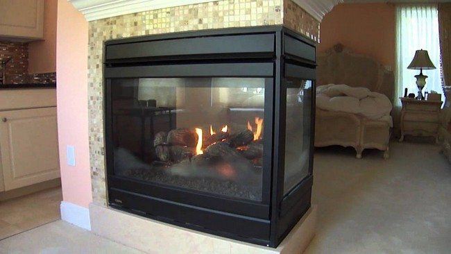 black fireplace from the steel