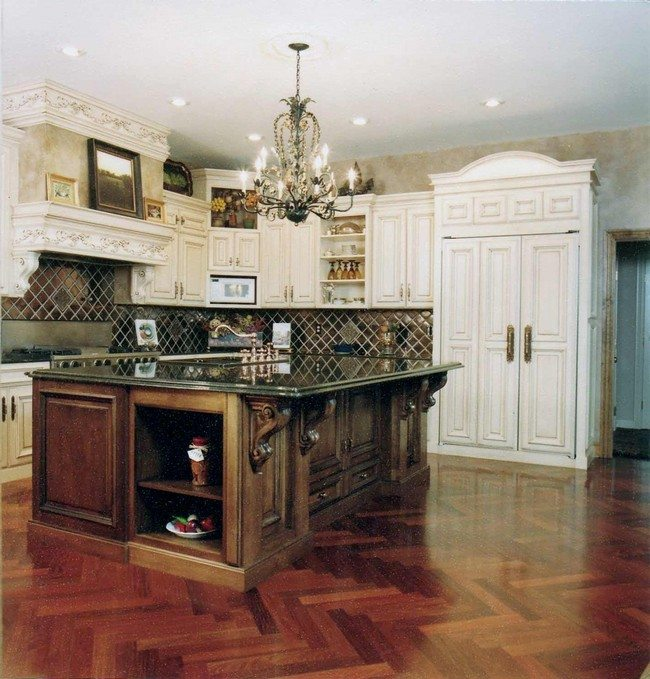 French country kitchen d cor decor around the world for Country kitchen island designs