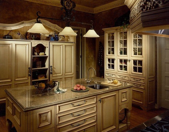 French country kitchen d cor decor around the world for French rustic kitchen ideas