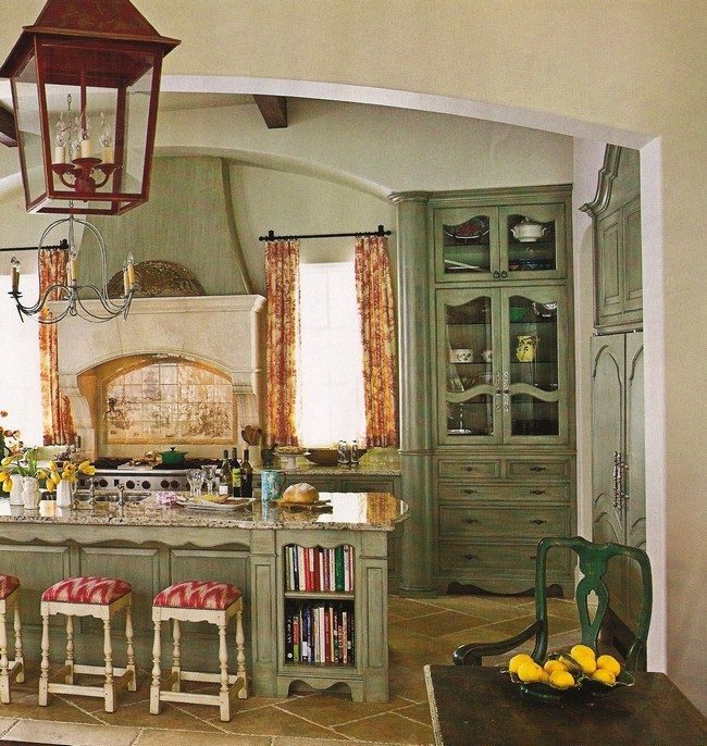 French Country Kitchen Green: French Country Kitchen Décor