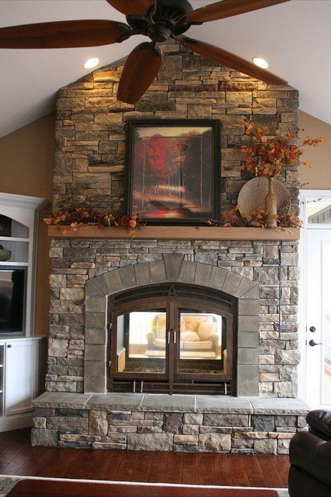 indoor and outdoor fireplace