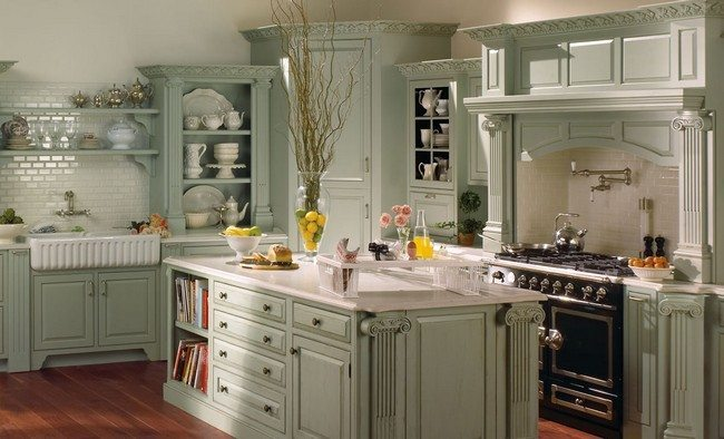 french country kitchen decor decor around the world With kitchen colors with white cabinets with lime green candle holders