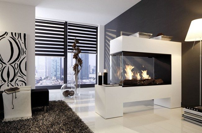 gas fireplace triple