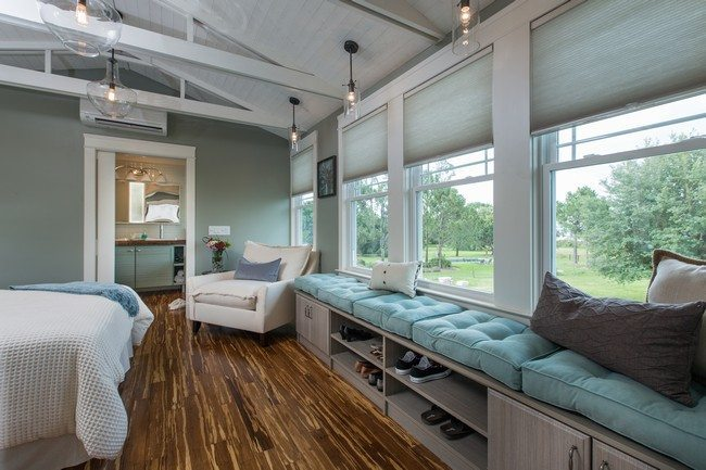 The master bedroom at the 2014 Blog Cabin in Winter Haven, FL.