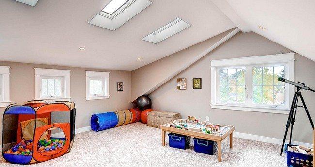 Well-arranged attic