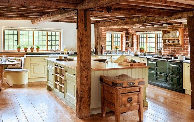 Image Result For White Antique Kitchen