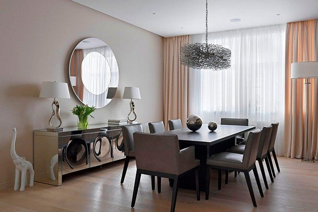 Perfecting your interior design with the help of mirrors for Large dining room decorating ideas