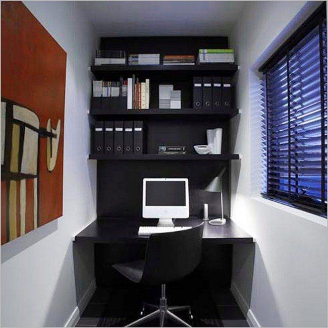 Small, black shelf