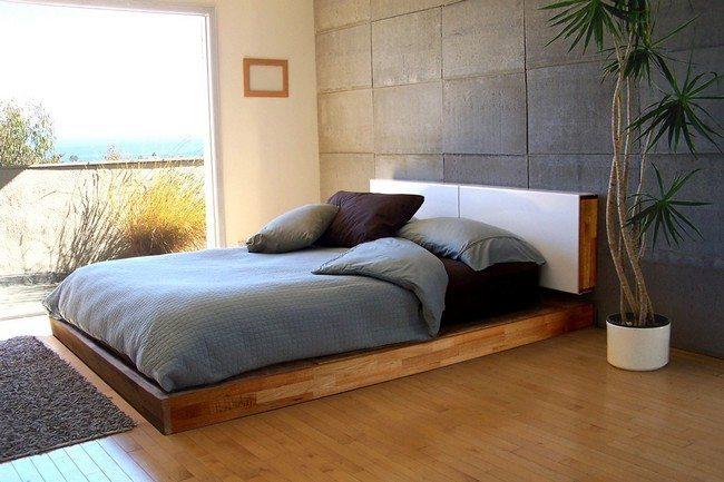 Bed adjoined to floor