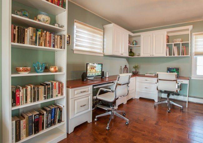 Elegant white cabinets