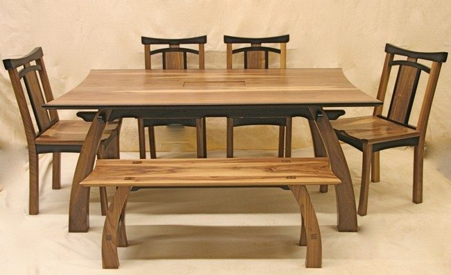 Wooden Dining Furniture Simple Room