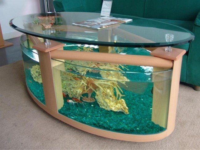 Transform the way your home looks using a fish tank decor around the world - Fish tank dining room table ...