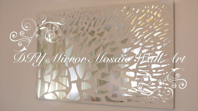 Wall Decor Around Mirror : Add to your wall art collection by making own mirror