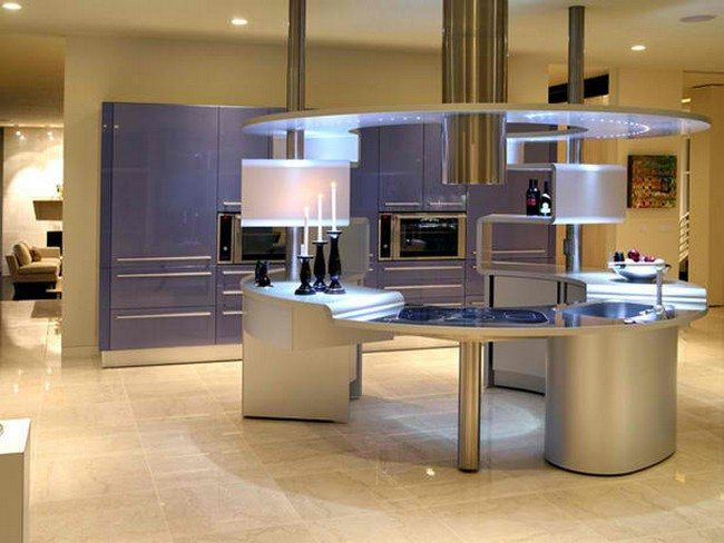 Elegant, futuristic kitchen