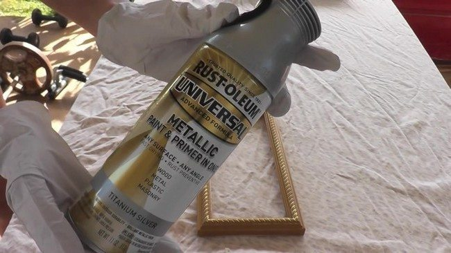 Rust-oleum metallic paint in spray can