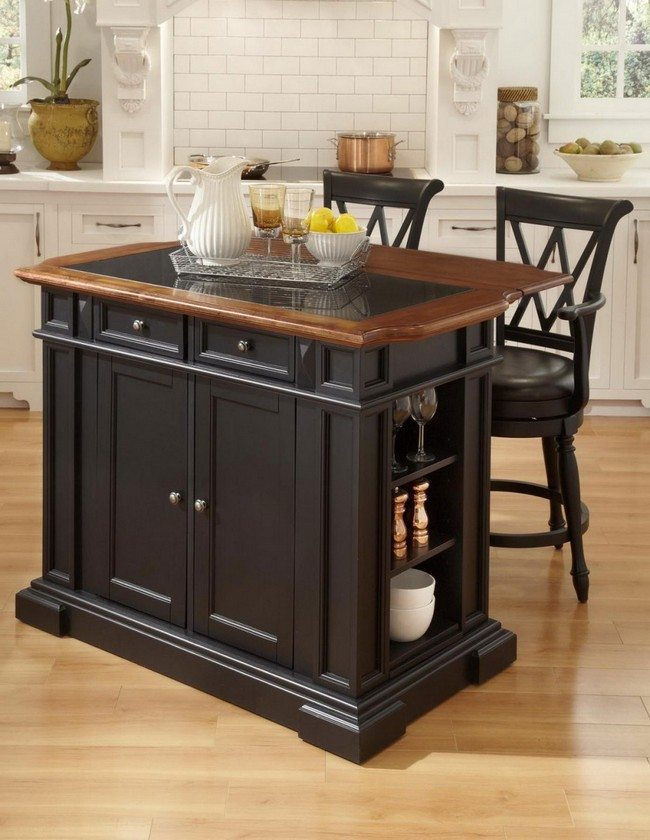 Small kitchen islands on wheels - Tips On Designing A Home Bar For Your Kitchen Decor