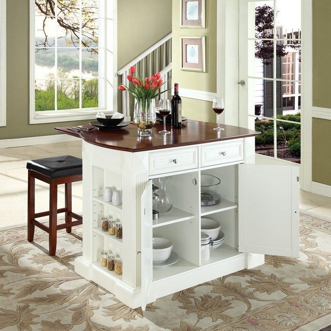 Tips on designing a home bar for your kitchen decor for Unique kitchen islands for small spaces