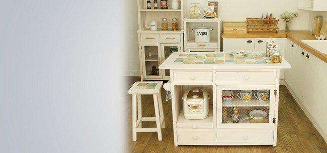 Tiny kitchen with small furniture