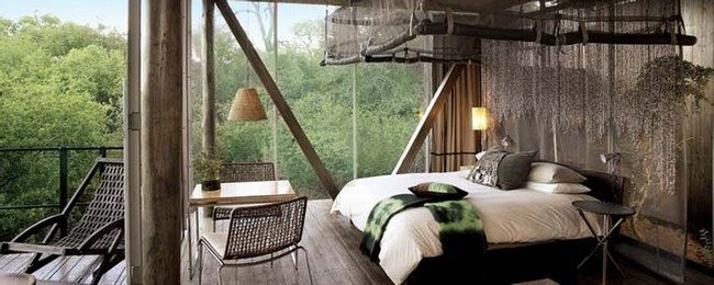 Bedroom with beautiful view of the outside