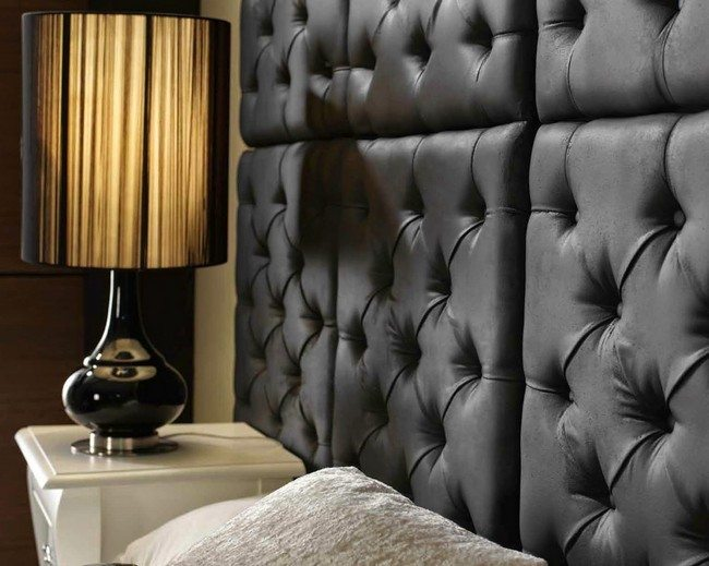 Adjoined rectangular tuft wall panels