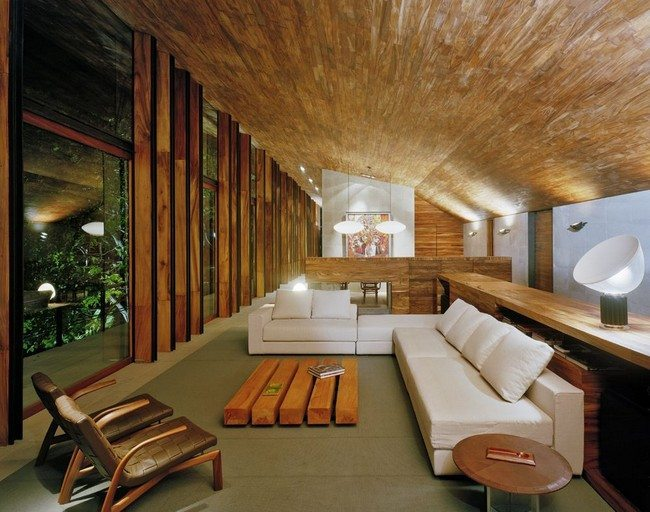 Warm up your home with these home interior designs involving wood decor around the world - Timeless contemporary luxury homes glamorous interior elements ...