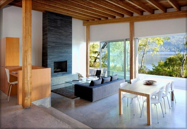 Warm up your home with these home interior designs involving wood decor around the world - Artistic wood clad design for warm essence in your house ...