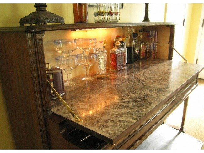 Bar area with stone top