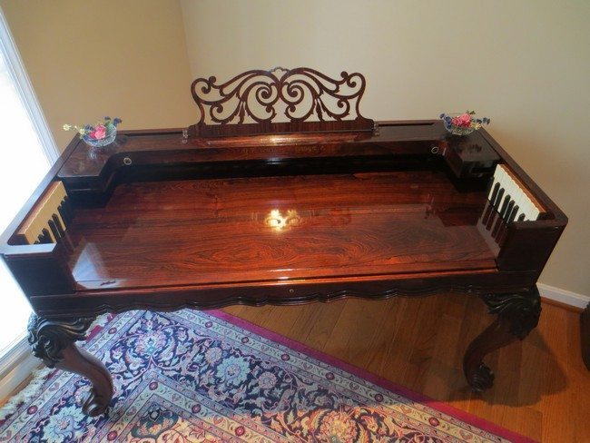 Polished piano table
