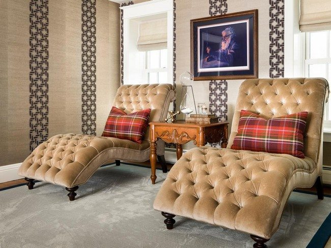 Comfortable furniture in tufted upholstery