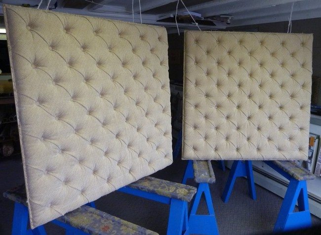 Simple tufted pannels