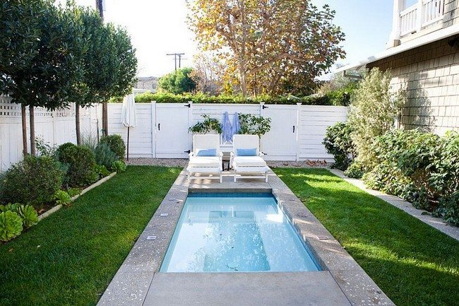 A tiny pool in the small urban backyard is all you need to beat the summer heat [Design: Molly Wood Garden Design]