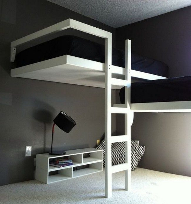 Elegant adult bunk bed for a contemporary home design