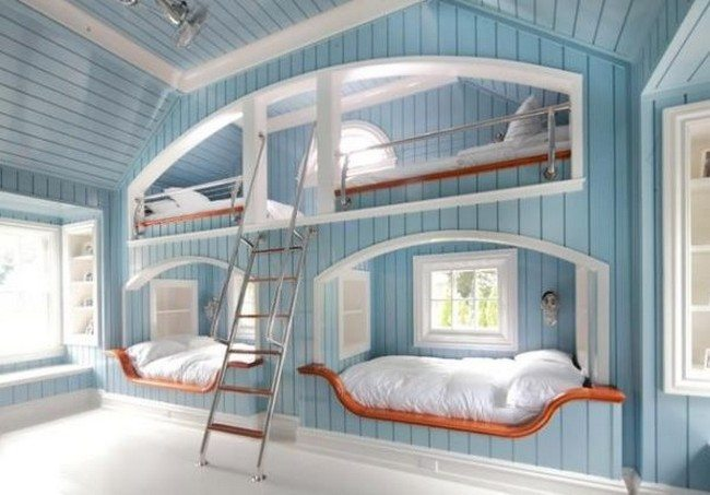 Beautiful bunk beds inspired by a coastal theme