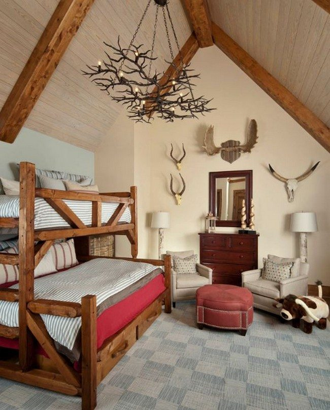 Compact boys' bedroom with a rustic theme by Platinum Series