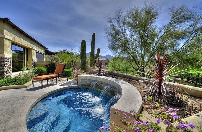 Maybe what you need is a spa with water feature [Design: The Matheson Team RE/MAX Fine Properties]