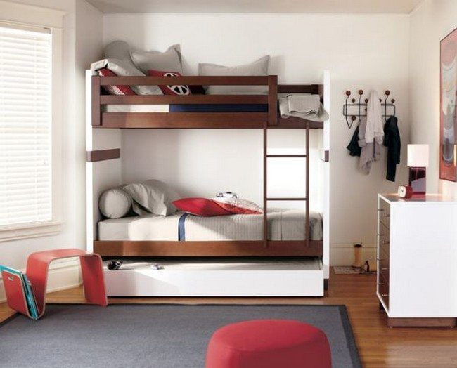 Moda Bunk Bed by R&B comes with smart storage solutions