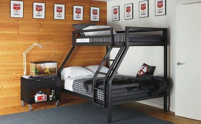 Smart bunk bed idea is perfect for adult rooms as well