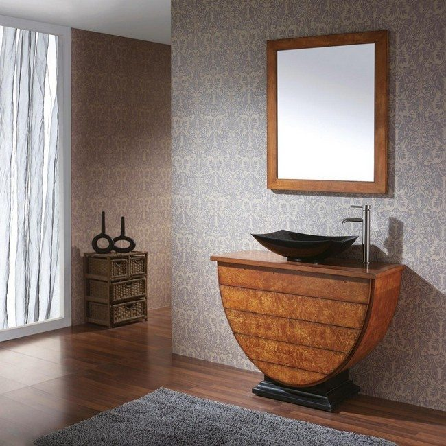 Simple Exhibition Stand Here Alone : Unique bathroom vanities elevate your with these