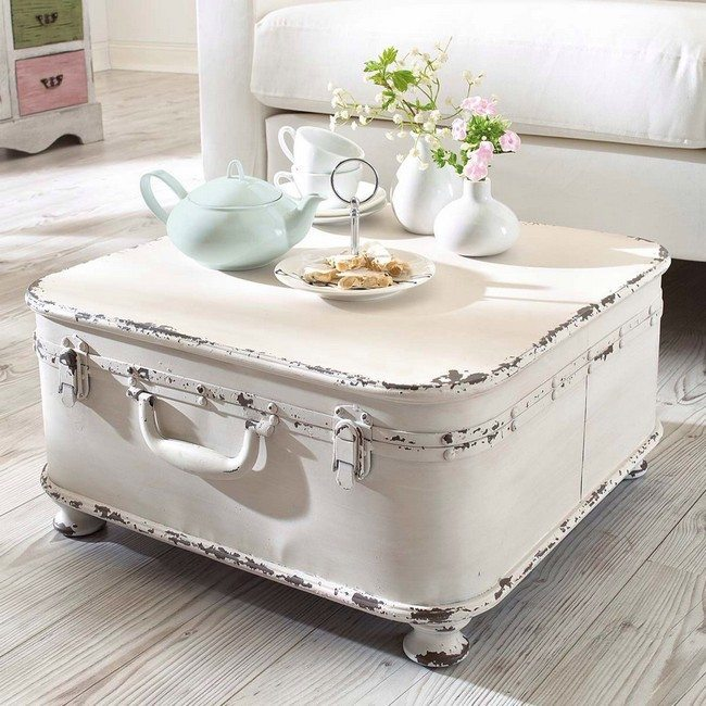 Diy Shabby Chic Coffee Table: Repurposed Suitcases: Simple DIY Ideas For Decorating Your