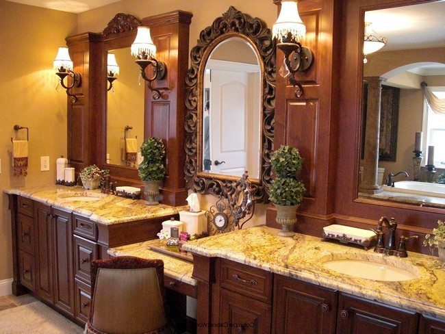 Cabinets with stone tabletops