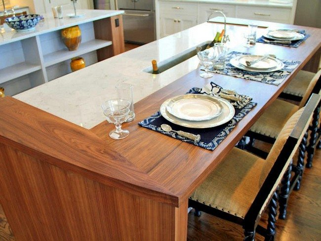 Split level countertop