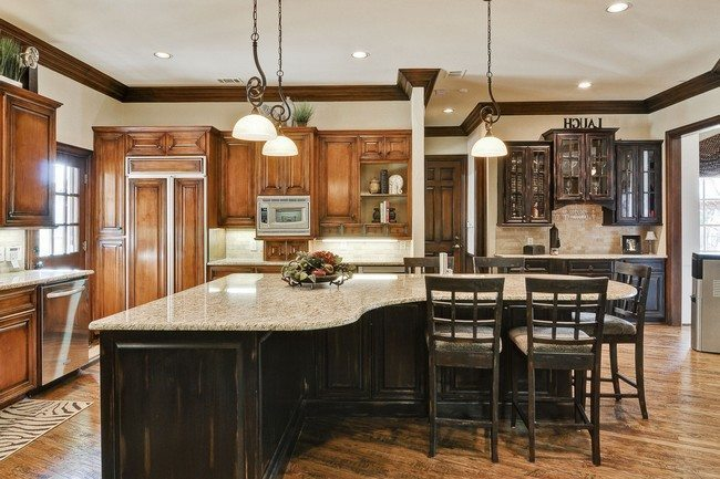 30 unique kitchen island designs decor around the world for Different shaped kitchen island designs with seating
